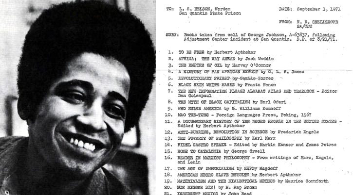 Exclusive: Official inventory of George Jackson's prison cell library