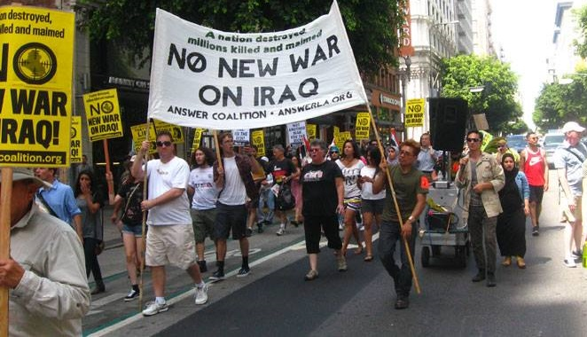 Photo of Protest against U.S. escalation in Iraq takes over streets in LA