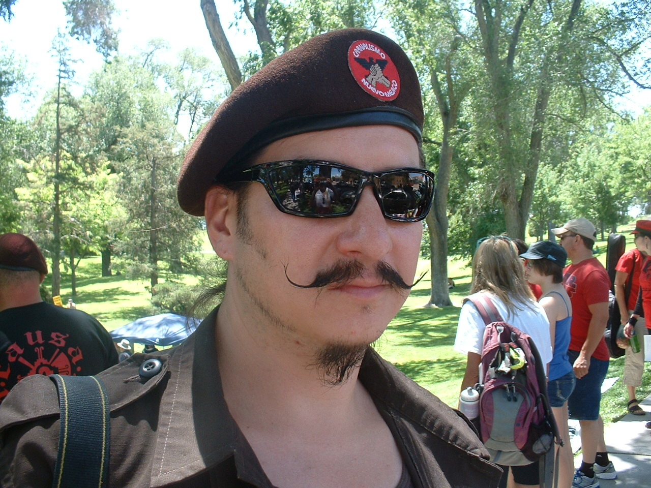 Photo of Albuquerque Brown Berets at march vs. police brutality