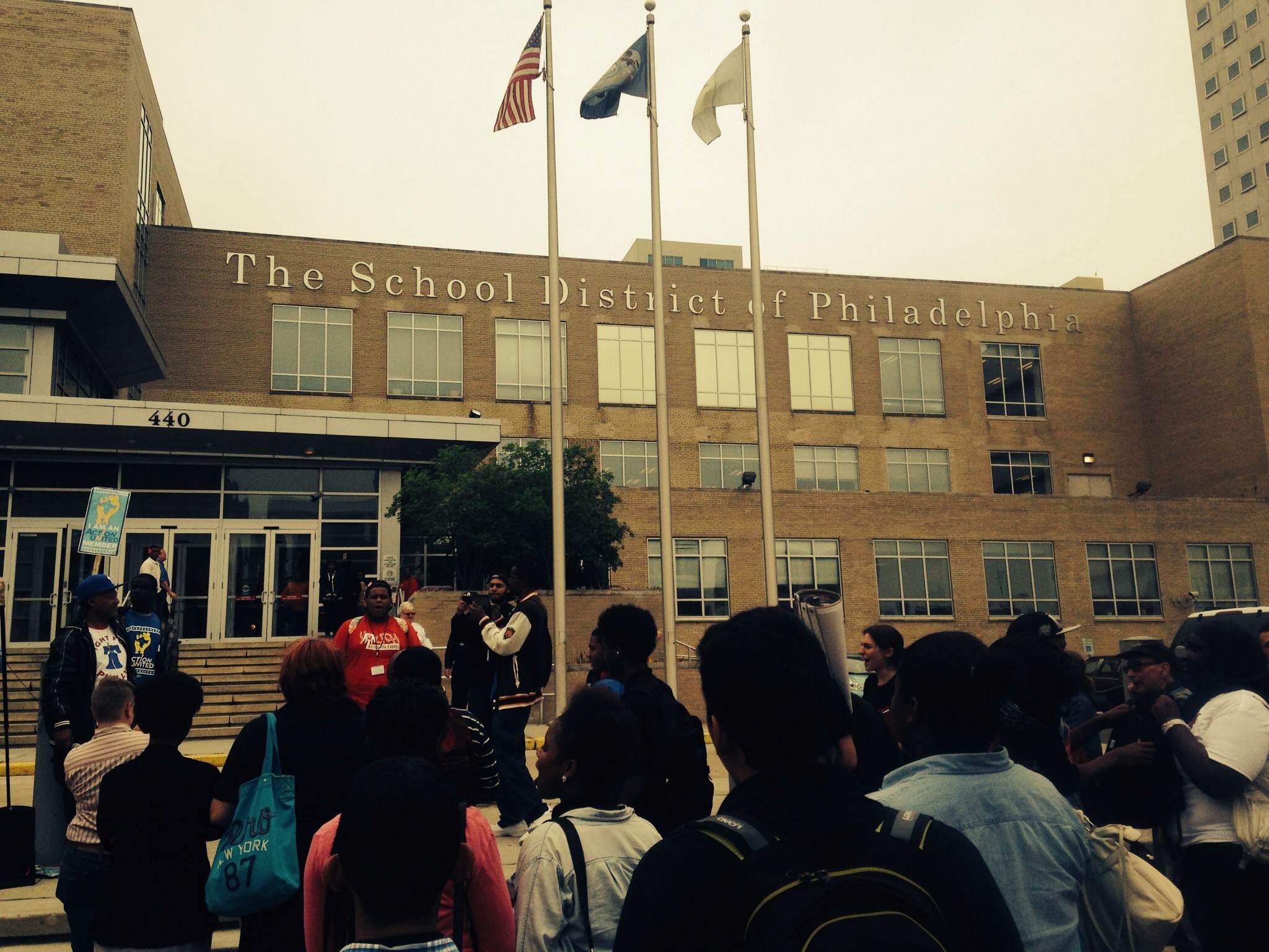 Photo of Philadelphia students walkout