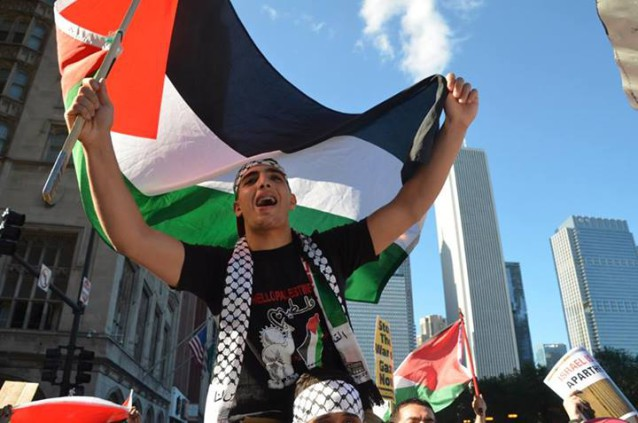 Photo of Chicago stands with Gaza (w/ protest pictures)