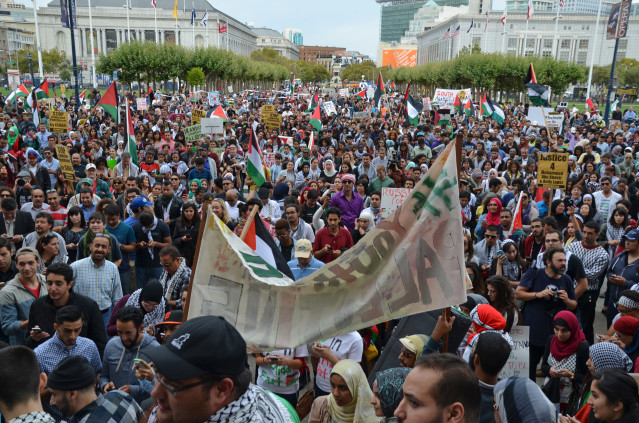 Photo of 6,000 march in San Francisco for Palestine