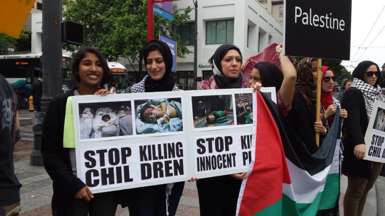 Photo of Seattle protest: Free Palestine!