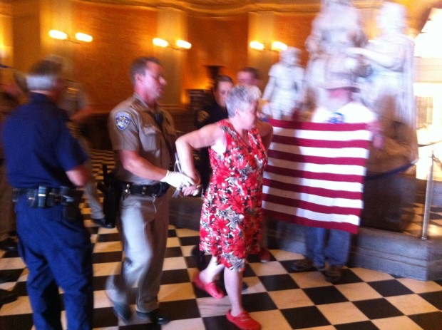 Photo of Activists fighting corporations get arrested