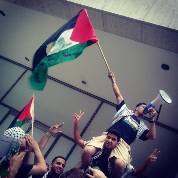 """Photo of NYC protest proclaims """"Long Live Gaza!"""""""