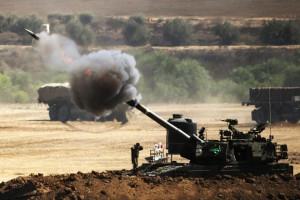 Israseli artillery firing