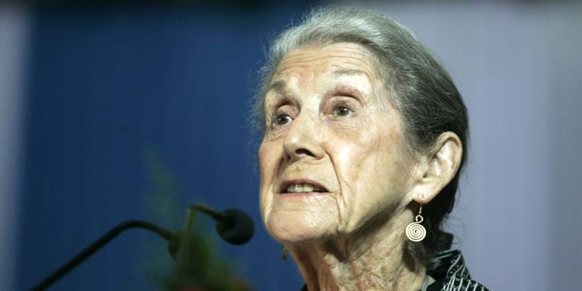Photo of Nadine Gordimer and her eternal spring