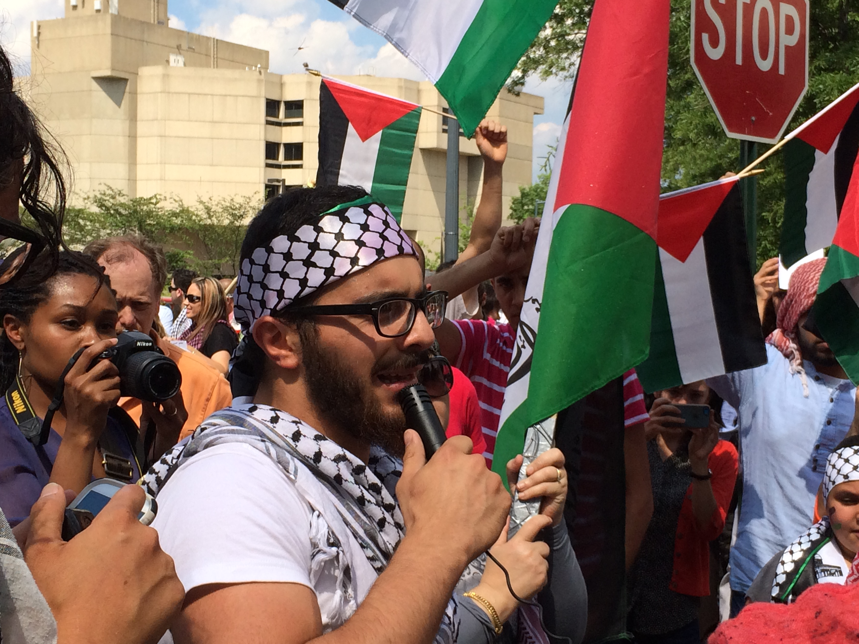 Photo of Washington, D.C.: Protests stand in solidarity with Gaza