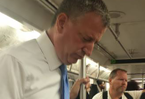 Activist confronts NYC Mayor Bill De Blasio