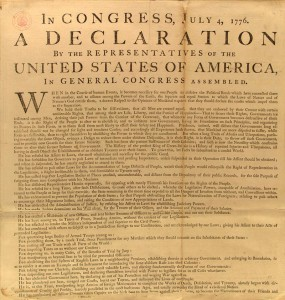 The declaration of independece