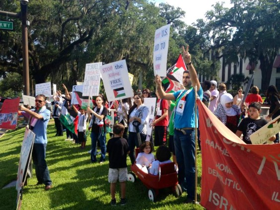 Photo of Tallahassee protests genocide in Gaza