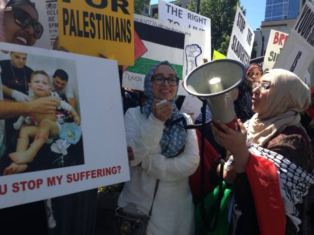Photo of Seattle marches against Israeli aggression