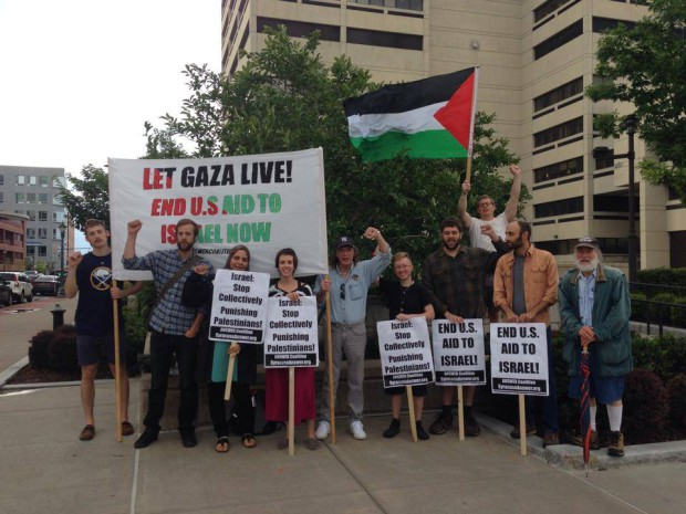 Photo of Syracuse rallies in support of Palestine
