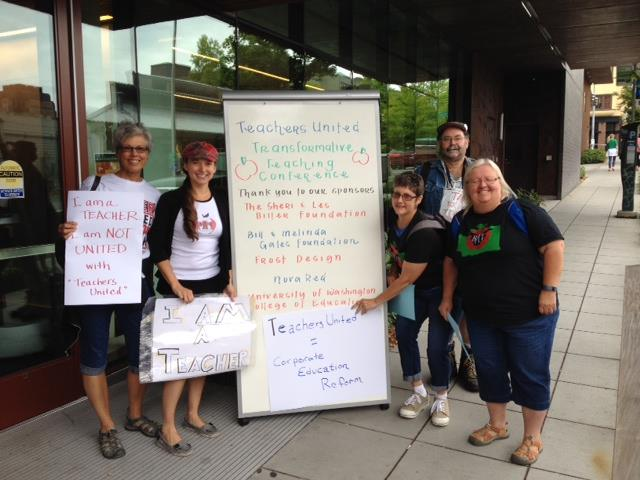 Photo of Teachers educate about corporate ed reform