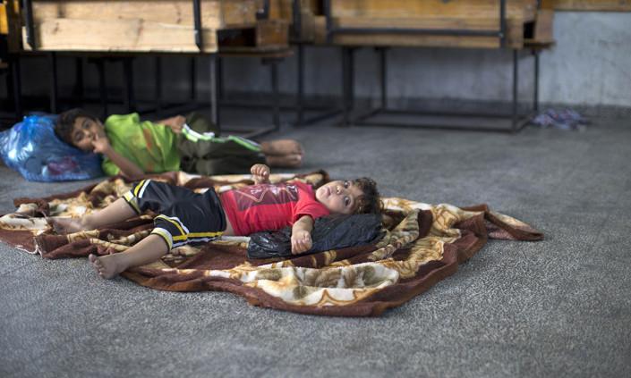 Photo of Palestinian children denied education