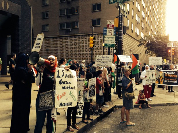 Photo of Philly stands with Palestine