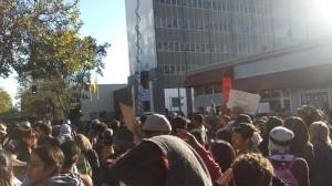 Oak-Ferguson-Rally-In-Front-of-OPD-Headquarters