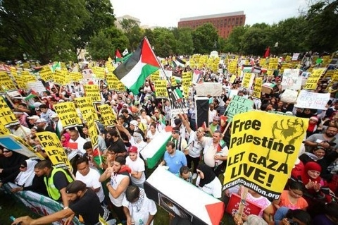 Photo of Tens of thousands march on the White House for Gaza