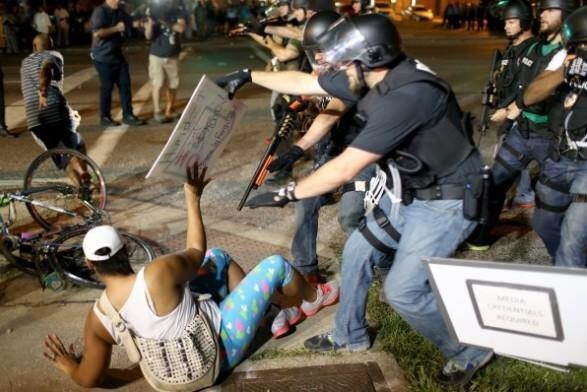 Photo of Veterans' appeal to National Guard: 'Stand with Ferguson protesters, not the police!'