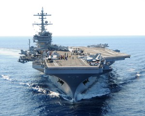 USS George H.W. Bush base for U.S. bombing Aug. 2014