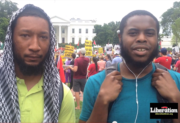 Photo of Video: Voices from the National March to Let Gaza Live!