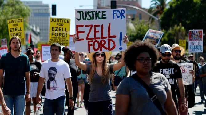 Photo of Video: Justice for Ezell Ford and Mike Brown!