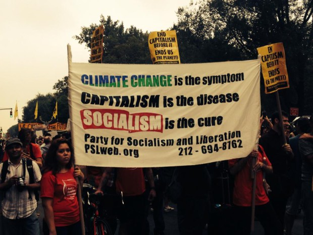Photo of 400,000 march in NYC, demand action on climate change
