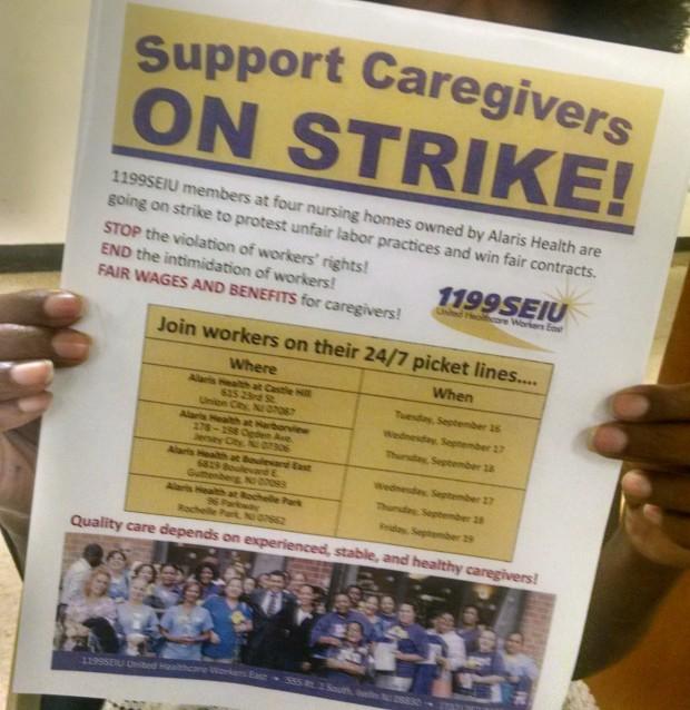 Photo of NJ nursing home workers—STRIKE!
