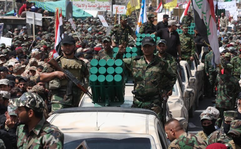 June 21, 2014 parade by Mahdi Army forces, calling for unity against the Islamic State
