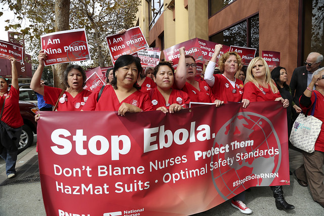 Photo of 11,500 angry nurses demand action from Obama on Ebola