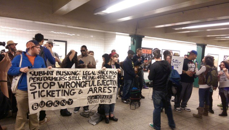 Photo of Underground rally defends subway performers from NYPD abuse