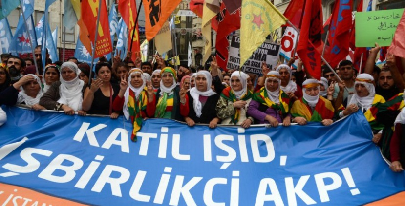 Photo of Turkey: protests support Kobani resistance to IS, condemn Erdogan