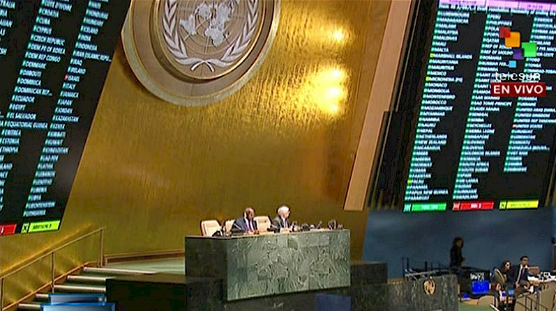 Photo of UN vote on blockade: 188 for Cuba, only U.S., Israel against