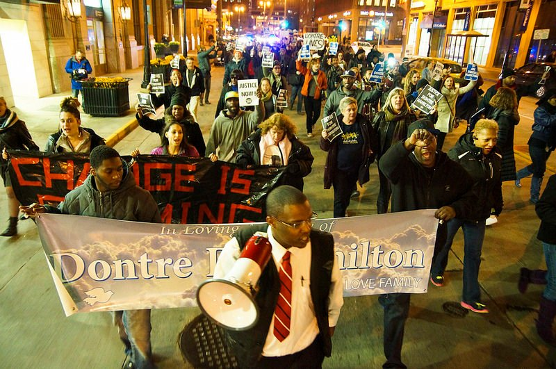 Photo of Milwaukee community demands justice for Dontre Hamilton