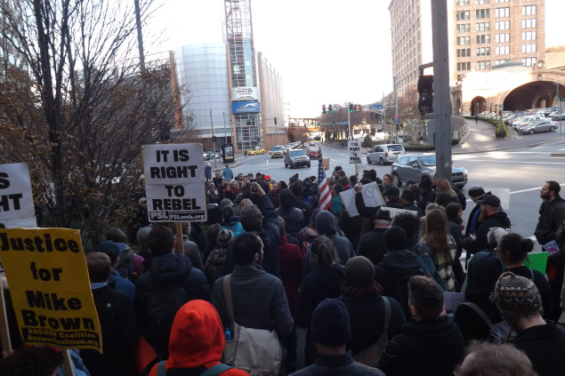 Photo of Two days of outrage and solidarity with Ferguson in Pittsburgh