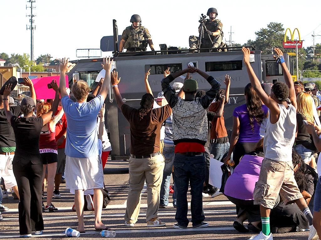No more illusions: Missouri cops talked peace, prepared war