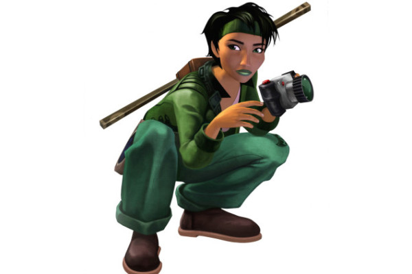 Jade, from Beyond Good and Evil, is one of a tiny few positive women characters. (Definitely not from the makers fo Grand Theft Auto).