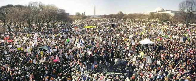 January 18 2003 anti-war protest