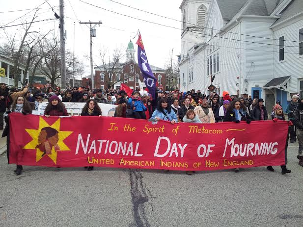National Day of Mourning: Indigenous protesters converge on Plymouth