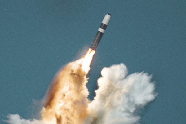 Test launch of a Trident D5  After December 1991, the 4th Fighter Wing at Seymour Johnson Air Force Base was assigned the responsibility for nuclear strike planning against North Korea..
