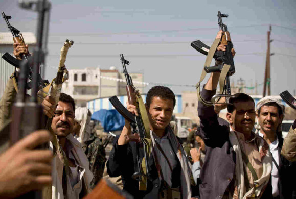 Houthi fighters in Sana'a