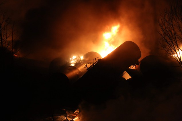 Photo of West Virginia burning: CSX oil spill and environmental class war