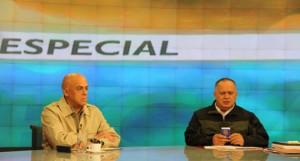 Jorge Rodriguez and Diosdado Cabello Photo credit: Telesur