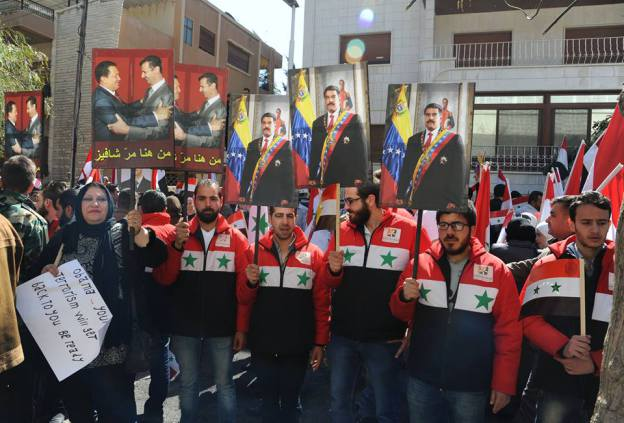 Photo of People of Syria stand in solidarity with the people of Venezuela in the common fight against U.S. imperialism