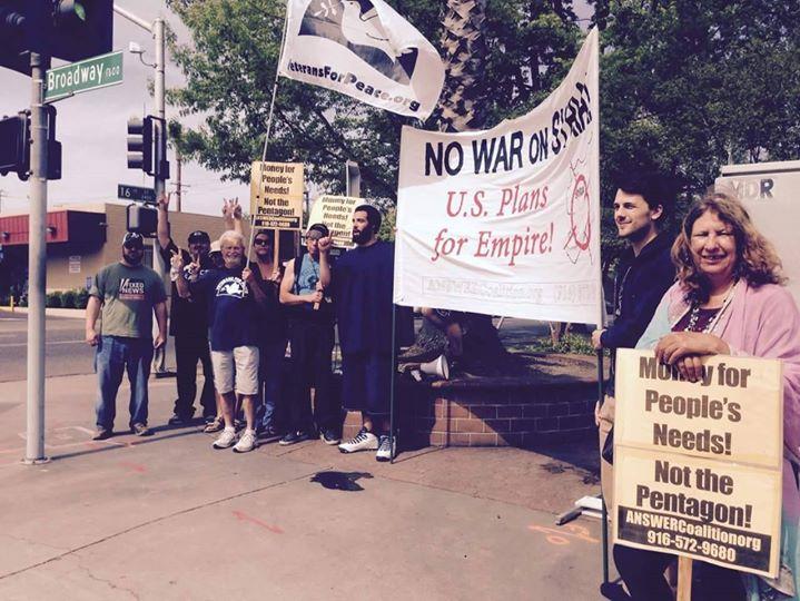 Photo of Sacramento says NO to endless war