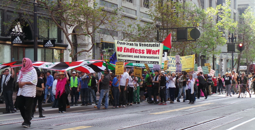 Photo of San Francisco streets alive with resistance to war and intervention