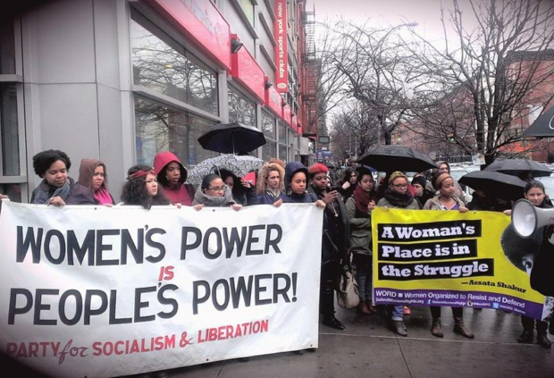 Photo of 'Women rise up in Harlem—It is our duty to fight for our freedom'
