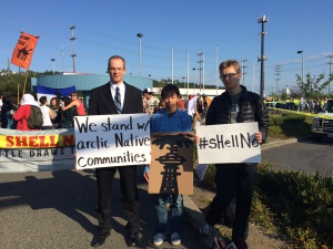 Members of Divest UW at the mass nonviolent direct action at Terminal 5