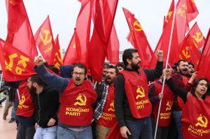 CP members in Taksim Square, Istanbul