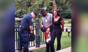 Bree Newsome being arrested, June 27.